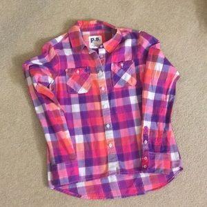 Girls Aeropostale button down shirt